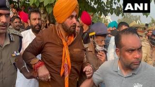 On Way To Lakhimpur Kheri, Navjot Singh Sidhu Along With Congress Workers Detained At Yamuna Nagar
