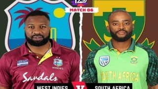 LIVE SA vs WI T20 World Cup 2021 Live Cricket Score, T20 Live Match Latest Updates: Both Teams Look to Get Back to Winning Ways