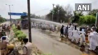 Police Use Water Cannons During Clash With Farmers in Haryana's Jhajjar | WATCH