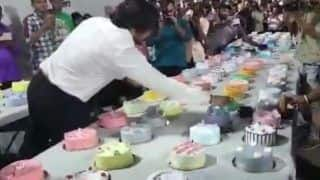 Viral Video: Mumbai Man Celebrates His Birthday by Cutting 550 Cakes, Flouts Covid Rules | Watch