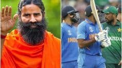 IND vs PAK, T20 World Cup 2021: Baba Ramdev ने 'राष्ट्रधर्म के खिलाफ' बताया भारत-पाक मुकाबला, कहा- आतंक और मैच एक साथ नहीं हो सकते