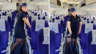 Viral Video: IndiGo Air Hostess Dances in Empty Flight on KiDi's Touch It Song. WATCH