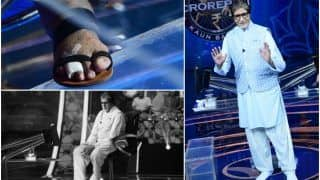 Amitabh Bachchan Shares Picture of His Fractured Toe as he Shoots KBC 13 Despite 'Excruciating Pain'