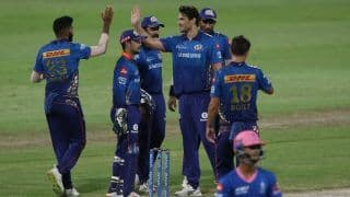 IPL 2021 Points Table After RR vs MI: Mumbai Indians Jump to Fifth Spot, Keep Play-Off Hopes Alive; KL Rahul Holds Orange Cap