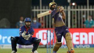 IPL 2021: Rahul Tripathi Reacts on Winning Six After KKR Beat DC to Set up Final vs CSK