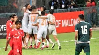 India Blank Nepal 3-0, Win SAAF Championship For 8th Time; Sunil Chhetri Equals Lionel Messi With 80 Goals