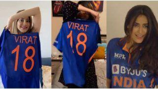 Actresses Surbhi Jyoti, Jasmin Bhasin and Nikki Tamboli go Gaga Sporting Team India's T20 World Cup Jersey of Virat Kohli