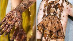 Karva Chauth Portrait Mehendi Design 2021: महिलाओं के बीच बढ़ रहा है Portrait मेहंदी का क्रेज, इस करवा चौथ आप भी करें ट्राई