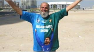 'Chacha Chicago' Set to Cheer in Unique Split India-Pak Jersey Featuring Dhoni