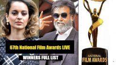 67th National Film Awards LIVE: कंगना बनीं बेस्ट एक्ट्रेस तो रजनीकांत को मिला दादा साहेब फाल्के अवार्ड- Winners List