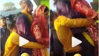 Viral Video: Bride & Groom Fall on Ground As They Are Lifted Together For Wedding Ritual | Watch
