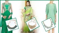 Navratri 2016: Day 7 colour Green, get the festive look right with these 3 ensembles