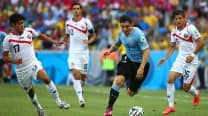 FIFA World Cup 2014 Uruguay vs Costa Rica Live Updates: Costa Rica beat Uruguay 3-1