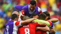 Switzerland grab last-minute win over Ecuador