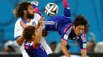 FIFA World Cup 2014 Match In Pics: Japan vs Greece
