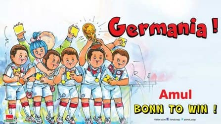 Amul celebrates Germany