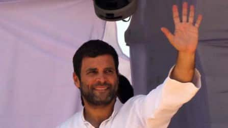Rahul Gandhi visits his bastion Amethi on the polling day
