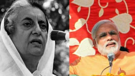Are there any similarities and differences between Indira Gandhi and Narendra Modi?