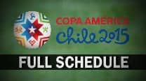 Copa America 2015 Fixture: Full Schedule of South American Football Tournament in IST, list of matches with Time Table & Venue Details