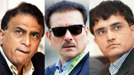 Sourav Ganguly, Sunil Gavaskar, Ravi Shastri, K Srikkanth in BCCI