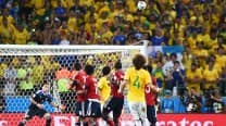 David Luiz stunner sends Brazil into semi-finals