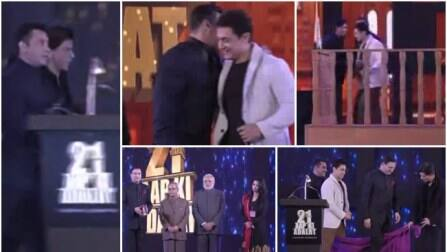 Shah Rukh, Salman, Aamir Khan with Narendra Modi and Pranab Mukherjee on 21 years of Rajat Sharma