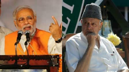 Why is Narendra Modi attacking Farooq Abdullah regarding Kashmiri Pandits?