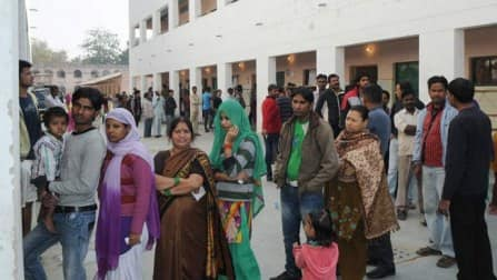 Voters queue up in Jammu for Lok Sabha polls