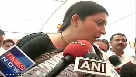 Smriti Irani visits Amethi, criticises Rahul Gandhi for lack of development