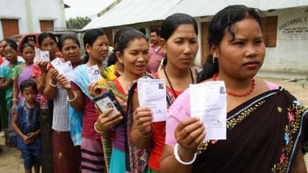 Brisk polling in three Assam Lok Sabha constituencies