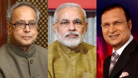 President Pranab Mukherjee and Narendra Modi  to attend TV show