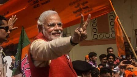 Assam follows Narendra Modi and the wave of change with BJP leading on eight seats