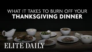 Happy Thanksgiving: Do you know what it takes to burn off a Thanksgiving dinner?